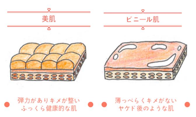 ビニール肌と美肌の違い