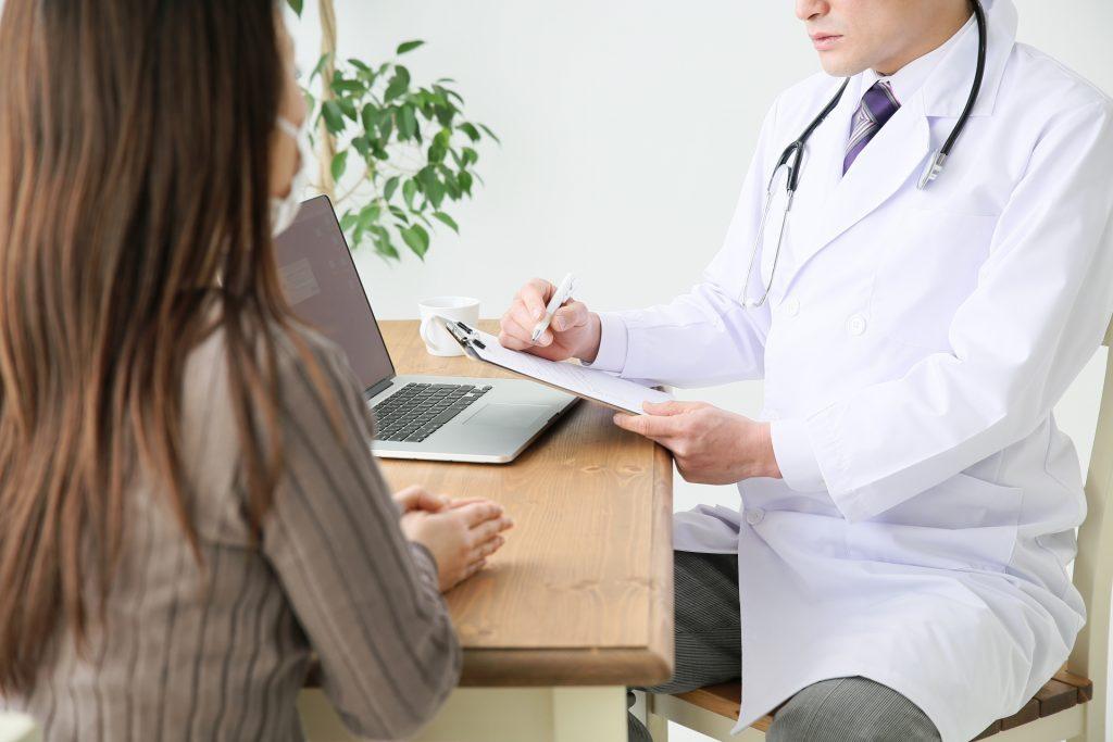 診療中の画像